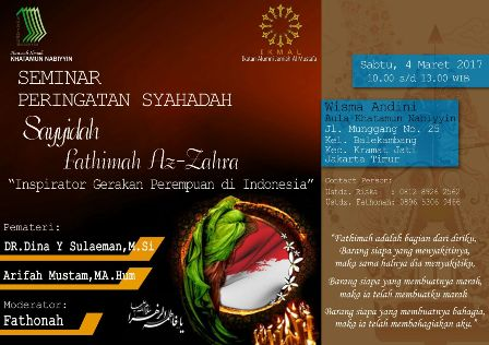 Meneladani Kedermawanan Fathimah Az-Zahra di Era Kesepian