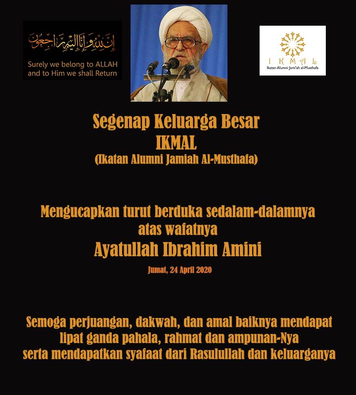 Ucapan Duka untuk Ayatullah Ibrahim Amini